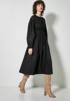 Superbalist - Shirred waisted dress - black