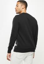 Aca Joe - Aca Joe orig fleece crew neck pullover - black