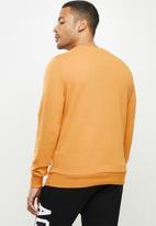 Aca Joe - Aca Joe orig fleece crew neck pullover - mustard