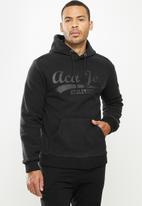Aca Joe - Aca Joe polar fleece hoodie - charcoal