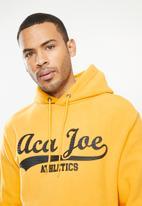 Aca Joe - Aca Joe polar fleece hoodie - mustard