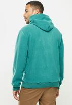 Aca Joe - Aca Joe polar fleece hoodie - turquoise