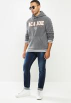 Aca Joe - Aca Joe polar fleece hoodie - dark grey