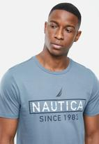 Nautica - Metallic logo tee - blue