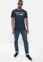 Nautica - Logo with signal flags tee - navy