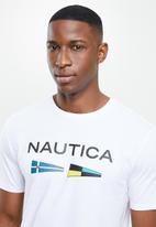 Nautica - Logo with signal flags tee - white