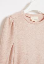 Superbalist Kids - Younger girls cut n sew gauged sleeve - pink
