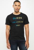 GUESS - Ombre logo crew - black