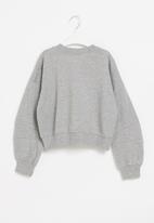 Superbalist - Girls cutline detail sweat top - grey