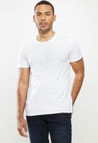 GUESS - Clear classic logo crew - white