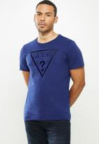 GUESS - Clear classic logo crew - navy