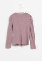 Superbalist Kids - Younger girls cut n sew gauged sleeve - purple
