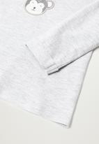 MANGO - Monkey long sleeve tee - grey