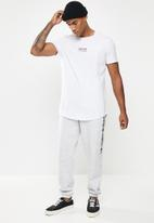 Factorie - Curved graphic T-shirt - light grey