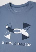 Under Armour - Tech graphic big logo tee - blue