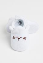POP CANDY - Baby slippers - white