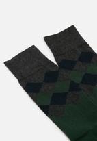 Jonathan D - Branded socks - green