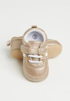 POP CANDY - Baby girls velcro strap soft sole shoes - brown