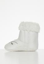 POP CANDY - Baby girls faux fur boots - white