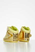 POP CANDY - Baby girls velcro strap soft sole shoes - gold