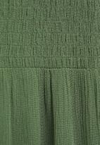 MANGO - Dress bambu - green