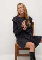 MANGO - Dress adelina - charcoal