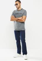 Lee  - Contrast lee rib - dark grey