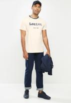 Lee  - Contrast lee rib - neutral & navy