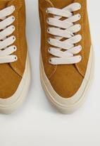 MANGO - Hague leather sneaker - medium brown