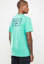 Vans - Full patch back short sleeve tee - turquoise