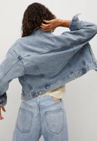 MANGO - Jacket rachel - open blue