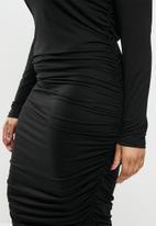 Blake - Ruched bodycon dress - black