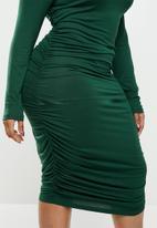 Blake - Ruched bodycon dress - emerald