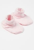 Little Lumps - Shoes ribbed - pink