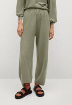 MANGO - Trousers milan - khaki green