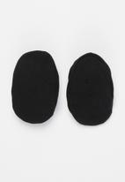 Little Lumps - Shoes - ribbed - black