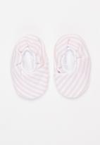 Little Lumps - Shoes kimono - pink & white