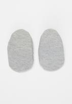 Little Lumps - Shoes ribbed - grey