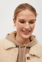 MANGO - Sweatshirt maxime hoodie - beige