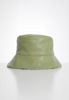 POP CANDY - Reversible bucket hat - olive