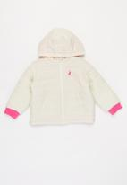 POLO - Girls tiffany hooded puffer jacket - off white