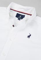 POLO - Boys nicholas long sleeve shirt - white