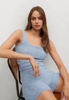 MANGO - Shorts neusi - blue