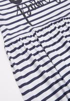 MINOTI - Girls basic power dress - white & navy