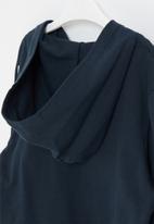 POP CANDY - Boys side tape zip through hoodie - navy