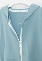 POP CANDY - Boys side tape zip through hoodie - blue