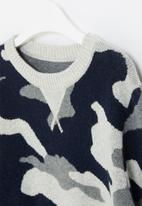 POP CANDY - Boys camo sweater - multi