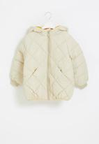 POP CANDY - Quilted puffer jacket - beige