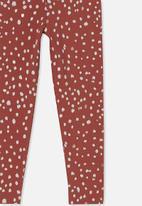 Cotton On - Huggie tights - chutney/fawn animal