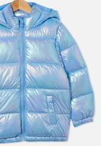 Cotton On - Frankie puffer jacket - blue metallic